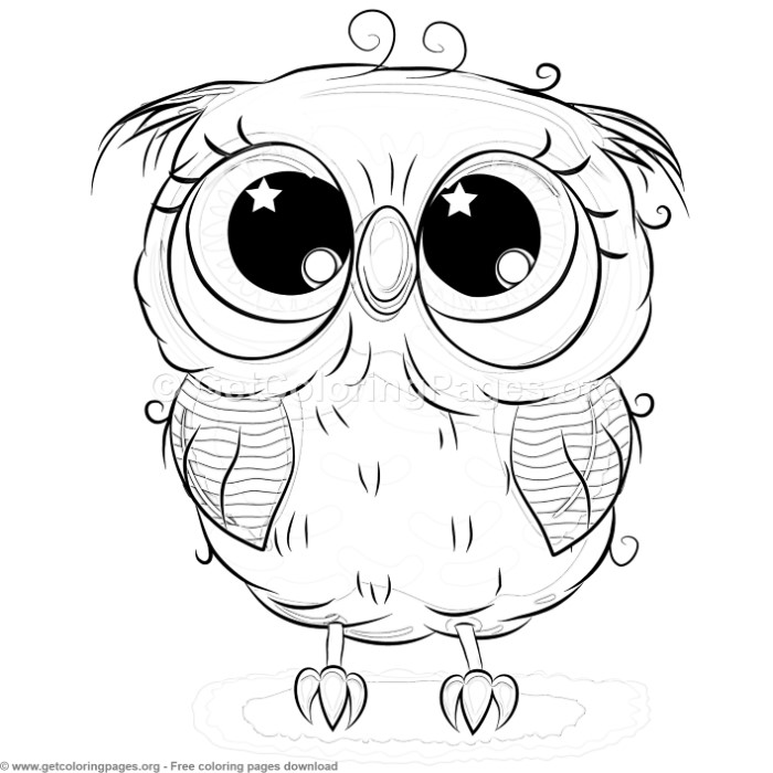 19 Cute Owl Coloring Pages