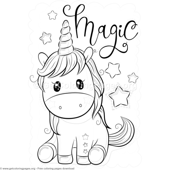 magic unicorn coloring pages – getcoloringpages