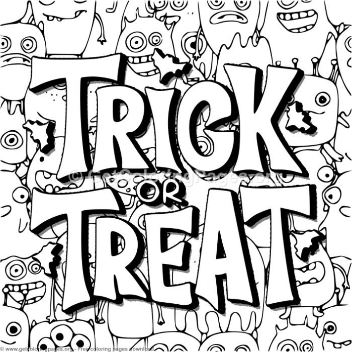 halloween trick or treat coloring pages – getcoloringpages