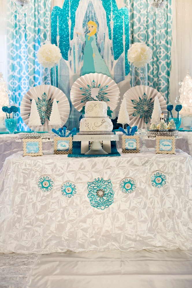 Glam Birthday Table Decor In Black And White Theme