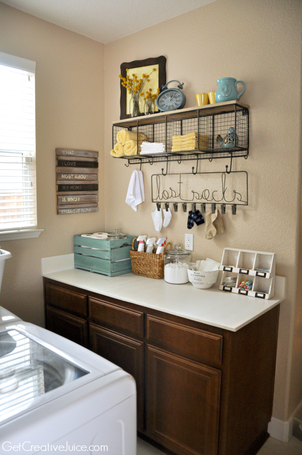 Laundry Room Organization and Storage Ideas - Creative Juice on Laundry Room Decor Ideas  id=79862