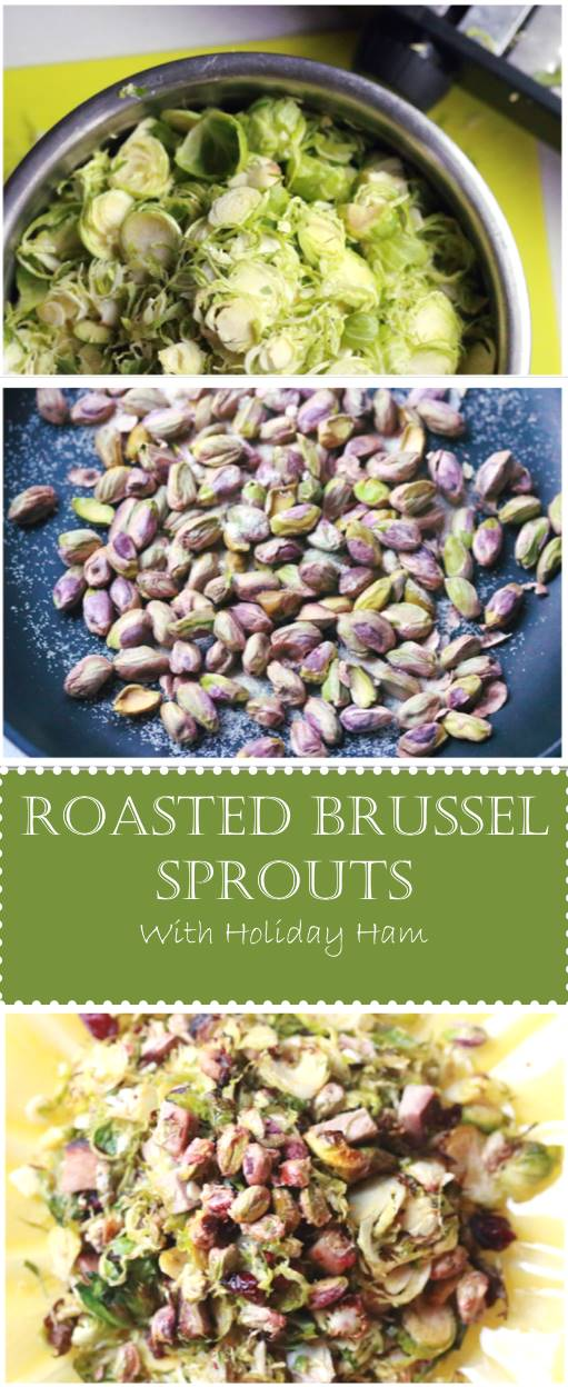 This recipe is a family favorite of ours. It's an easy way to use up any leftover holiday ham and to get the kids to eat more vegetables. I have a simple trick that eliminates the bitterness from brussel sprouts and will get even the pickiest of eaters to love them. The mouth watering combination of smokey ham, roasted brussel sprouts, cranberries, pistachios and lemon aioli is new, fun and easy to prepare!