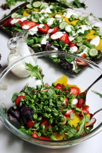 Get lot's of vitamins and minerals with this Rainbow Spring Salad healthy recipe. Strawberries, radishes, cucumbers, and beets are a perfect marriage of sweet, savory, refreshing and a little spicy. This Spring recipe is a staple all season!