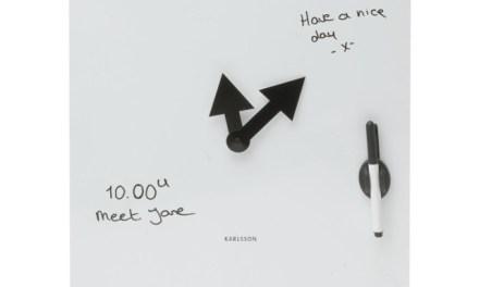 Karlsson Wall Clock Magnetic Whiteboard