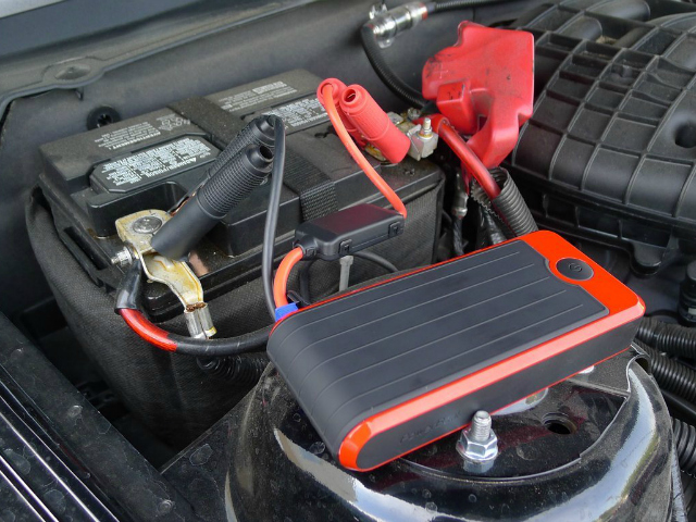 The PowerAll Portable Power Bank and Car Jump Starter charges up your portable devices and jump starts your car.