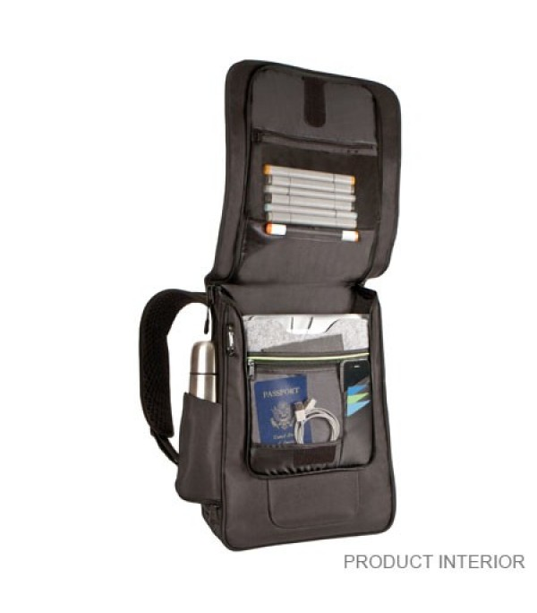 170a32f18b1 The Travelon Anti-Theft Urban Backpack not only protects you from thieves  and cutpurses, it also protects you from identity theft.
