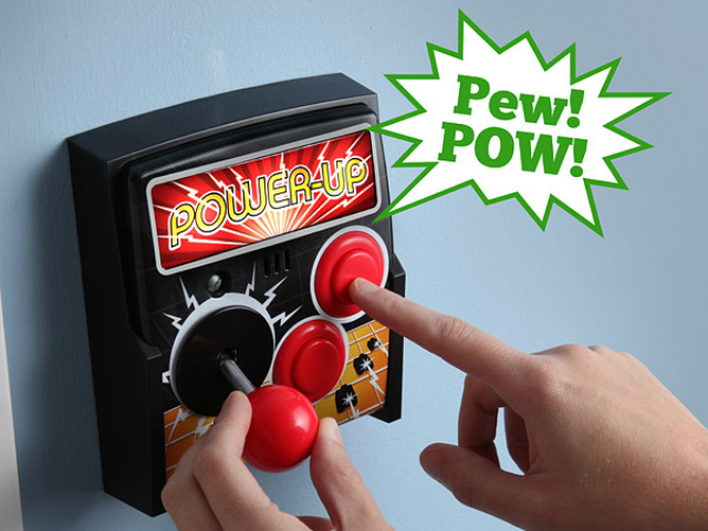 Power-Up Arcade Light Switch Plate