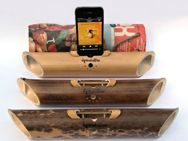 SpeakaBoo Acoustic Bamboo Speaker Amplifier