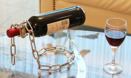 Magic Levitating Chain Bottle Rack