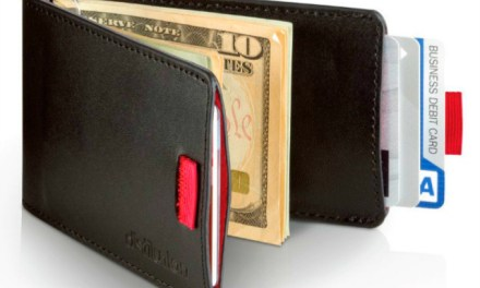 Wally Bifold, Cross Between a Slim Wallet and a Pull Tab Book