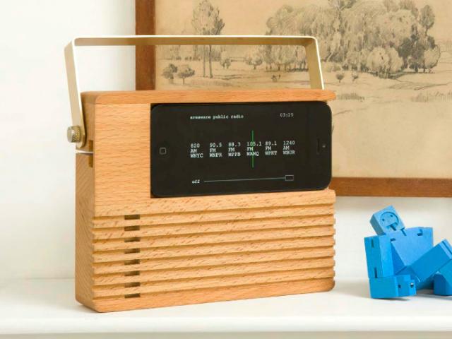 Areaware Radio Dock Turns Your iPhone into a Retro Radio