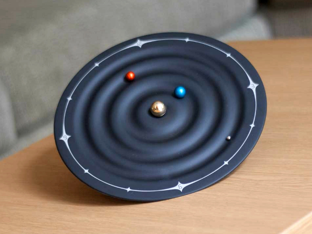 Orbit Planet Clock Tells Time Using Orbiting Planets