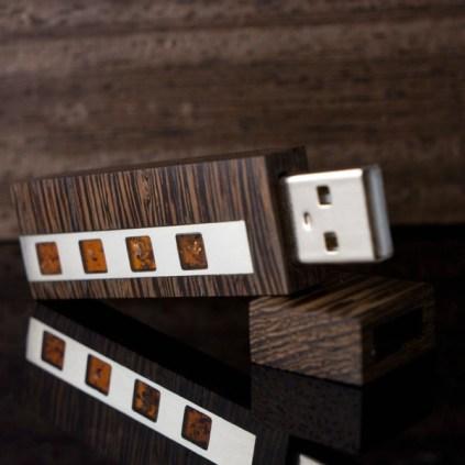 VIP Amber Wenge USB 3.0 Flash Drive