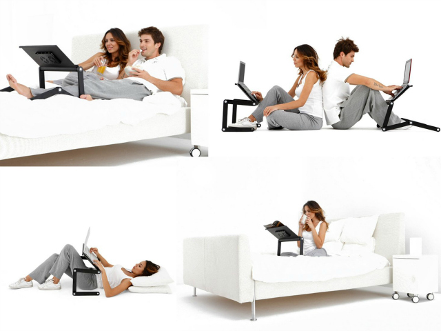 Adjustable Vented Portable Laptop and Tablet Desk