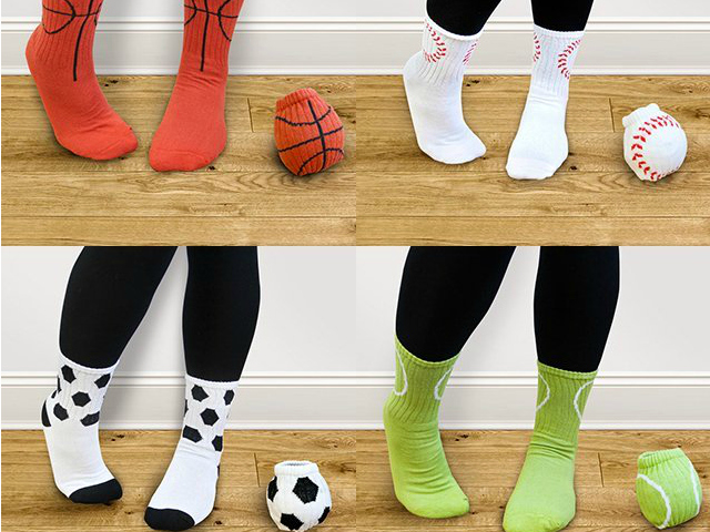 Suck UK Sports Ball Socks – Ball up your Socks