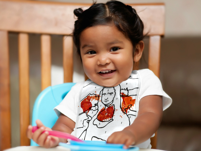 Bring The Artist Out with the Little Spills Reusable Baby Bibs