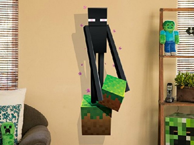 Minecraft Vinyl Wall Graphics Creatures 4-Pack