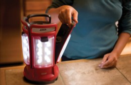 Use the Coleman Quad LED Lantern in 4 Places at Once