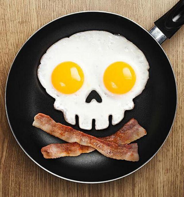Skull Shape Silicone Egg Frying Mould