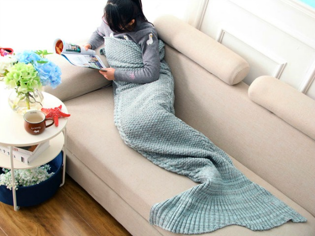 Mermaid Tail Blanket Channels your Inner Mermaid