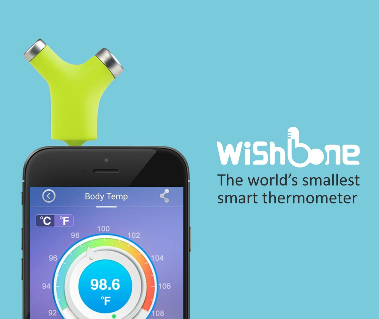 Wishbone Turns your Phone into a Baby Thermometer - GetdatGadget