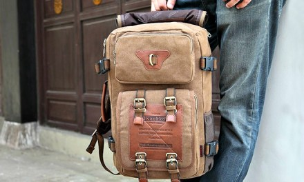 KAUKKO FH05: The 2-in-1 Canvas Backpack cum Sling Bag