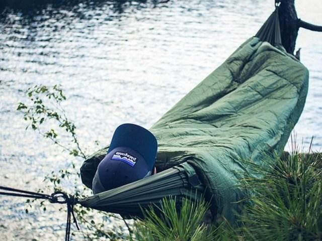 Bison Bag G2 Combines Sleeping Bag with Hammock