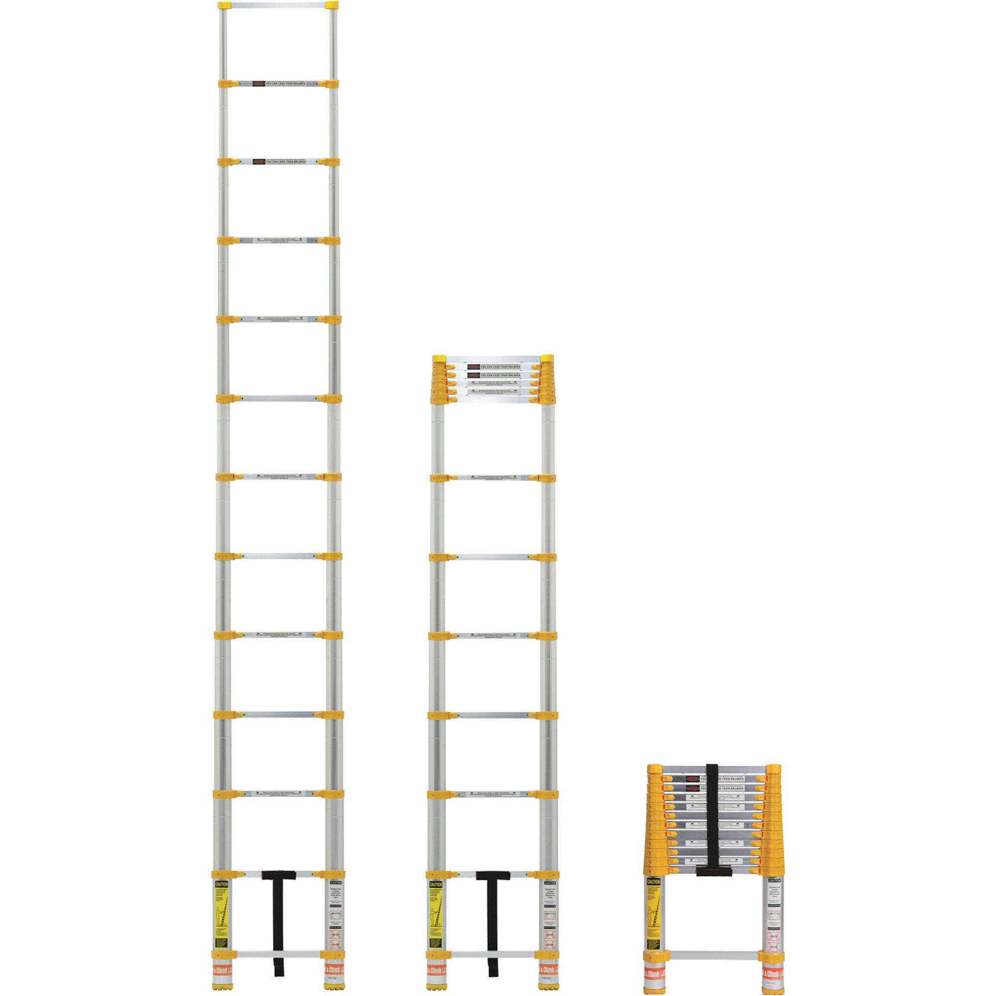 Xtend & Climb Telescoping Ladder Goes from 3 to 12 5 Feet