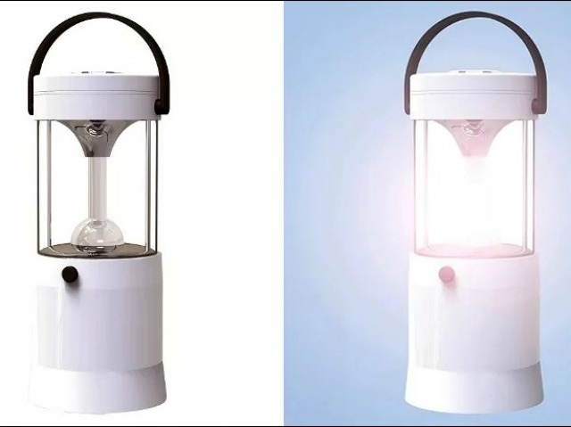 Aqupa Lamp: Powered by Saltwater and Lasts 80 Hours