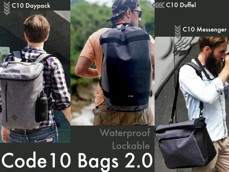 Code10 Bag 2.0: Waterproof Lockable Bag is Back