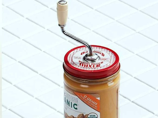 Grandpa Witmer's Peanut Butter Mixer Prevents Oily Mess
