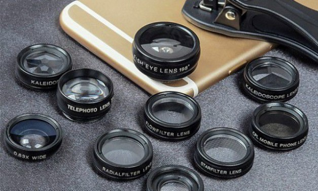 Apexel 10-in-1 Lens Kit Adds 10 Fun Lenses to your Cell Phone