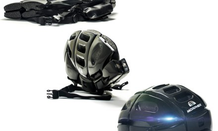 Morpher Bike Helmet Folds Flat for Portability
