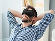 Batman Eye Mask - Sleep Like a Superhero
