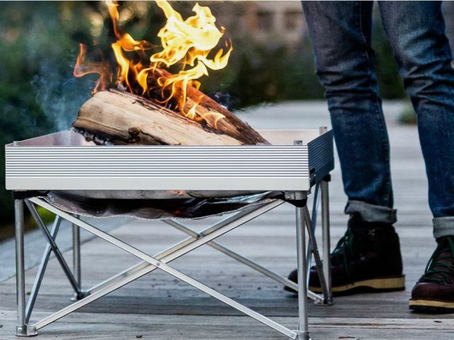 Portable Pop-Up Fire Pit Sets-up in Under a Minute