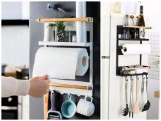 Magnetic Kitchen Rack Creates Storage out of Thin Air