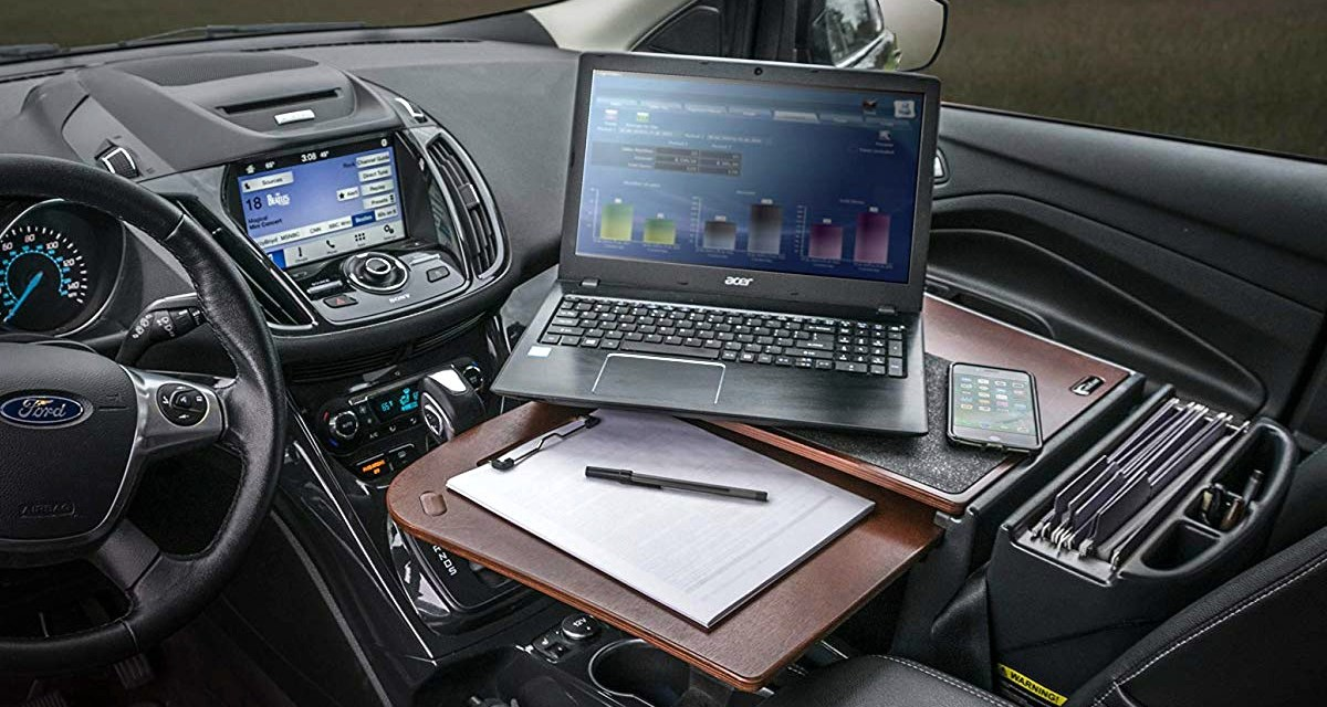 AutoExec Car Desk Turns your Car into your Office