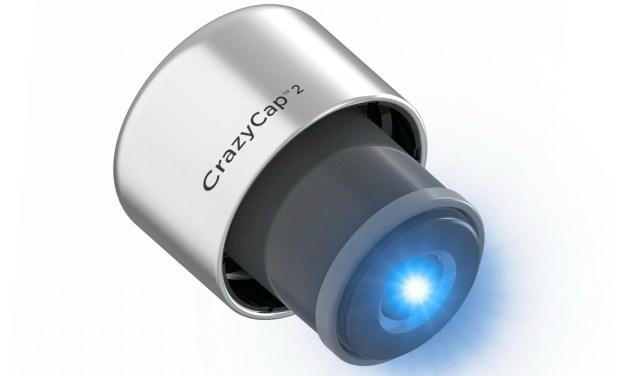 CrazyCap Hi-Tech UV Water Filtration System on a Bottle Cap