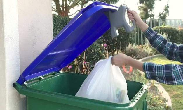 Lid-L-Buddy Opens Dumpster Lid Without Hand Contact