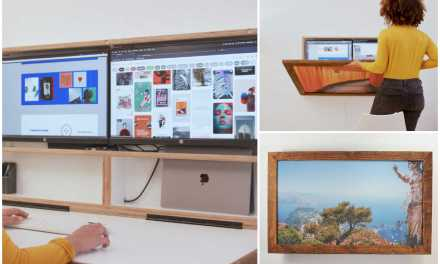 DropTop: The WFH Desk that hides Behind an Art Frame