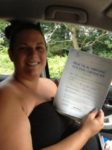 Neesha passes her driving test first time
