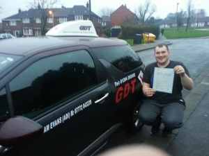 John Lloyd passes driving test in Bolton