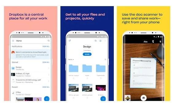 Приложение Dropbox для Android