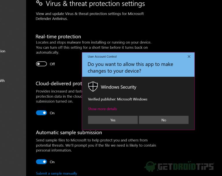 Как исправить ошибку Windows 10 0x800700E1: Защитник обнаруживает нежелательное программное обеспечение / вирусы