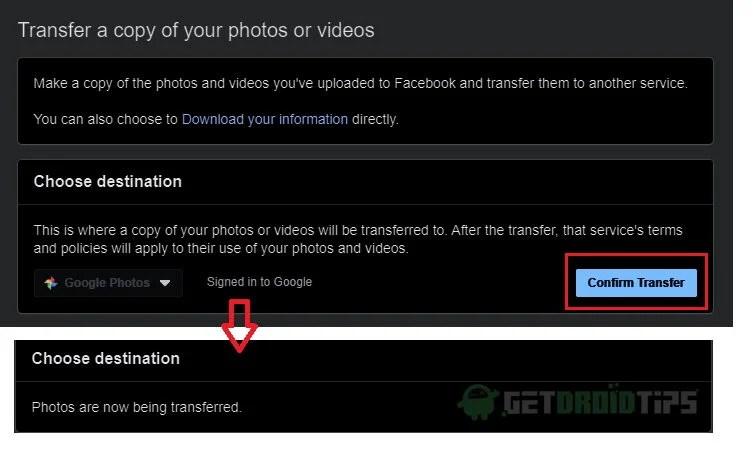Как перенести фотографии и видео из Facebook в Google Фото