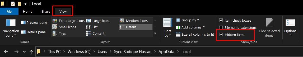 показать скрытые файлы и папки