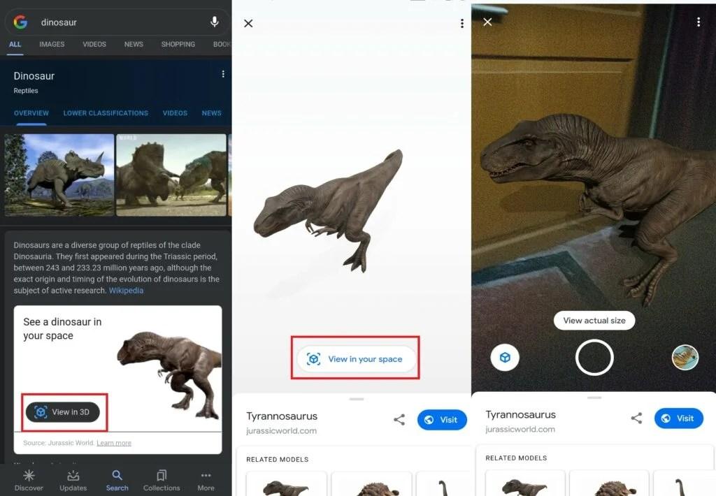 Google 3D Животные