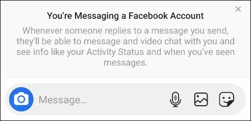Как отправить сообщение другу в Facebook из Instagram