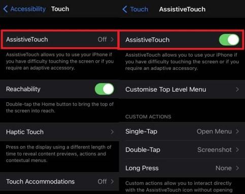 İPhone ve iPad'de Assistive Touch'ı etkinleştirin