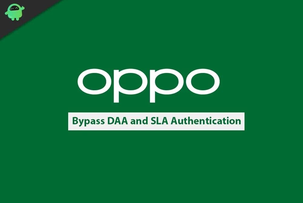 Отключить или обойти аутентификацию DAA и SLA на смартфоне Oppo